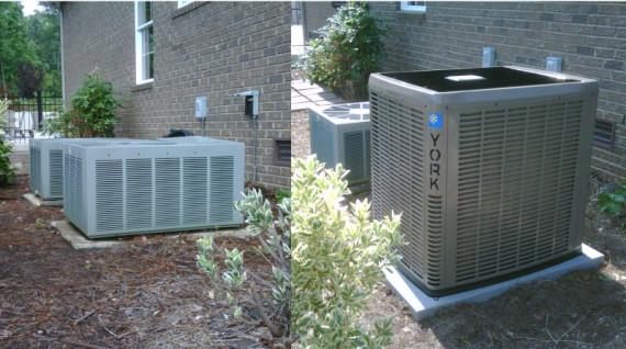 york heat pump. mooresville 10 seer heat pump before. now a 17 2 stage heating \u0026 cooling york affinity pump.